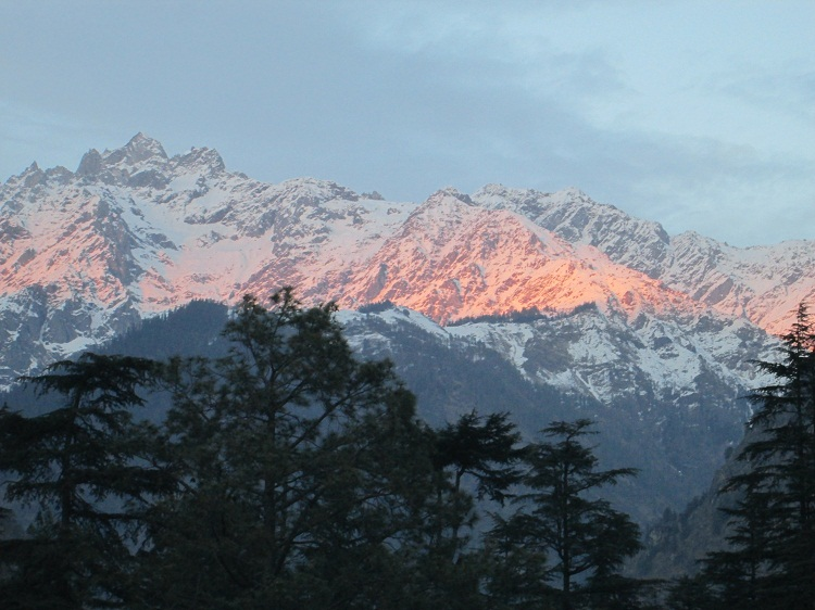Sunset as reflected on Pin Parvati clicked from Kasol