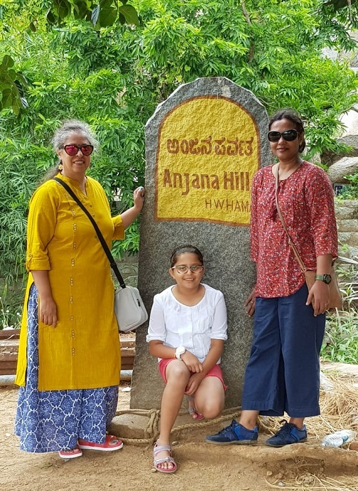 About to begin our climb to Hanuman's birth place