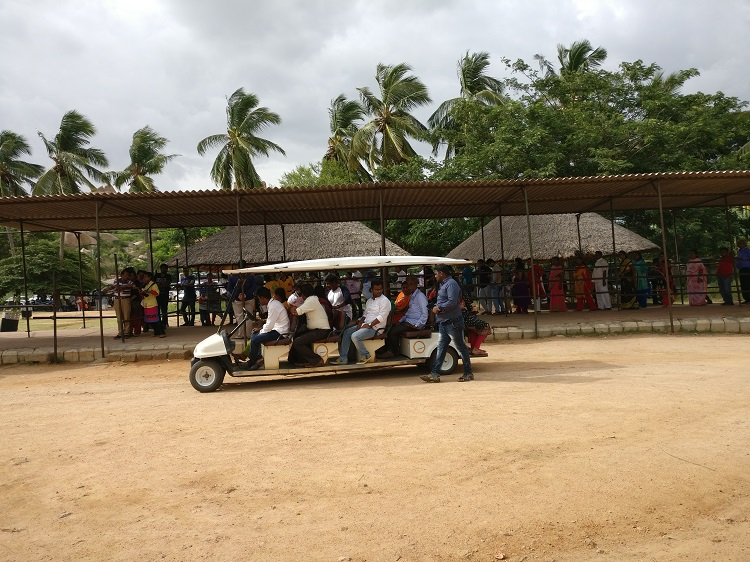 From the entrance of the Vithala Temple you can travel in these carts to the main temple complex