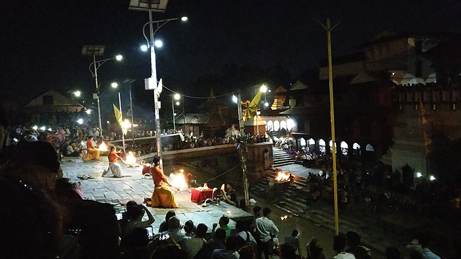 Fire - aarti and cremation