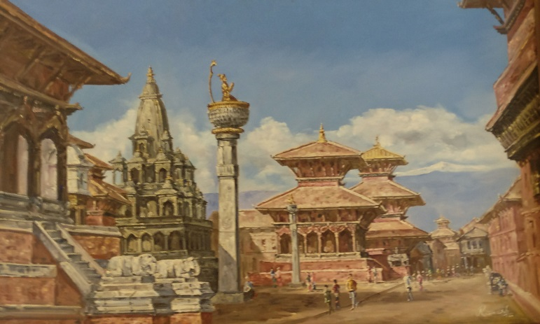 Painting of Durbar Square