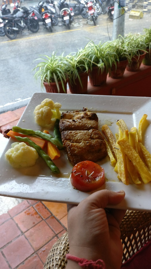 Some fish and chips at the Maya Restaurant in Pokhara